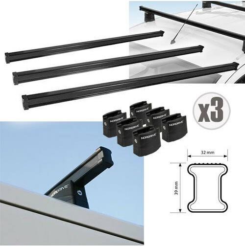 3x BARRE PORTATUTTO PER FIAT SCUDO corto/lungo standard (07-16) NORDRIVE 150 cm