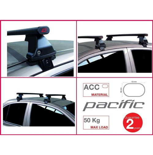 BARRE PORTATUTTO COMPLETE G3 FORD EDGE DAL 2016 NO RAILS KIT IN ACCIAIO