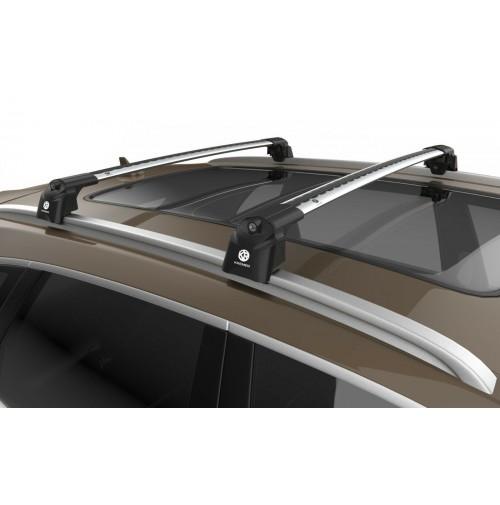 BARRE PORTATUTTO SU MISURA PER FIAT PANDA (2012>) - RAILING STANDARD - SILVER