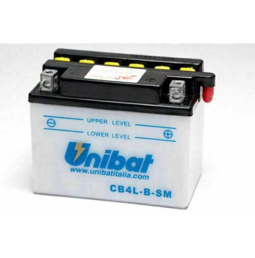 BATTERIA MOTO/SCOOTER UNIBAT/SAF MOD. CB4L-B-SM -COMPATIBILE-YB4L-B