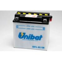 BATTERIA MOTO/SCOOTER UNIBAT/SAF MOD. CB7L-B2-SM -COMPATIBILE-YB7L-B2