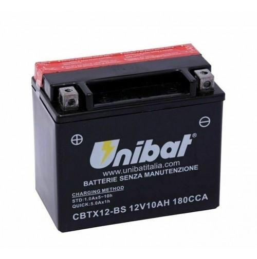 BATTERIA MOTO/SCOOTER UNIBAT/SAF MOD.CBTX12-BS -COMPATIBILE-YTX12-BS