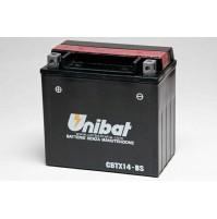 BATTERIA MOTO/SCOOTER UNIBAT/SAF MOD.CBTX14-BS -COMPATIBILE-YTX14-BS