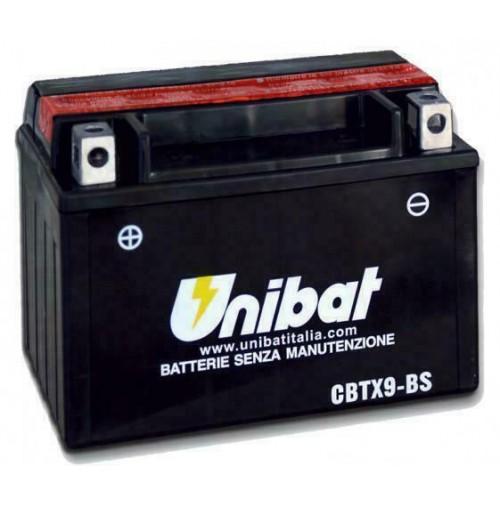 BATTERIA MOTO/SCOOTER UNIBAT/SAF MOD.CBTX9-BS -COMPATIBILE-YTX9-BS