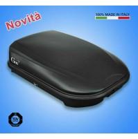 BOX DA TETTO PORTATUTTO GEV SPAZIO 320 BAULE IN ABS 320 LITRI - NERO OPACO