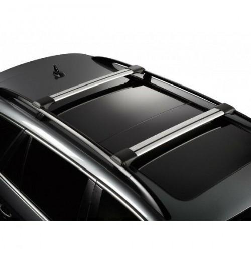 Barre portatutto in alluminio Whispbar Kia Sportage - railing 11/04>08/10