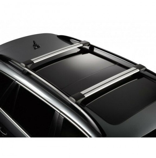 Barre portatutto in alluminio Whispbar Mitsubishi Pajero 5p - railing 11/06>