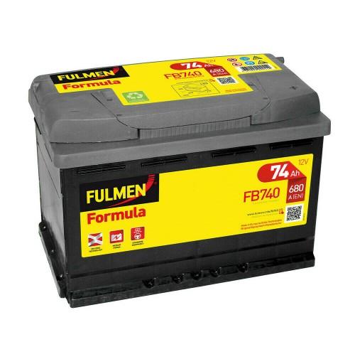 Batteria auto 12V  Fulmen Formula - 74 Ah - 680 A,misure 278x175xH190mm