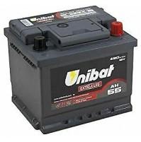 Batteria auto UNIBAT EXTRALIFE,12V-55Ah-480A di spunto,polo + dx-207x175x175m