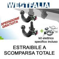Gancio traino WESTFALIA (A40V) AUDI A6 BERLINA 2018- estraibile + kit elettrico