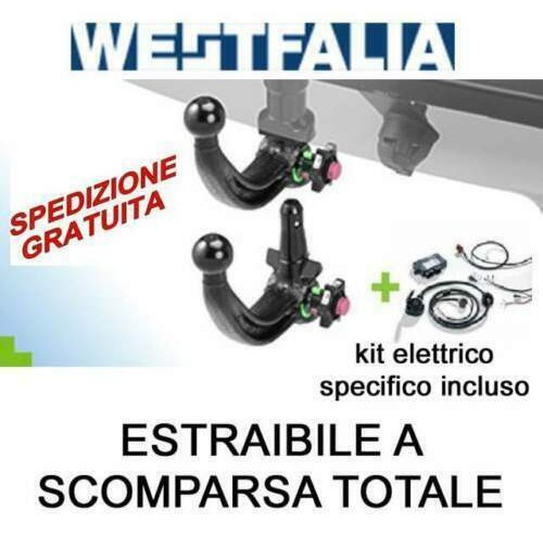 Gancio traino WESTFALIA BMW X3 G01 11/2017 estraibile + kit elettrico