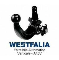 Gancio traino WESTFALIA VOLKSWAGEN GOLF 7 SPORTSVAN 2014 KIT ESTRAIBILE A40V