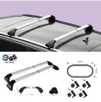 KIT 2x BARRE PORTATUTTO IN ALLUMINIO TELESCOPICHE PER BMW X5 F15 (2013>)