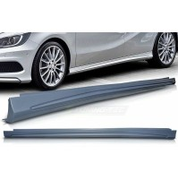 KIT MINIGONNE SOTTOPORTA  MERCEDES CLASSE A W 176, REPLICA AMG STYLE, IN ABS