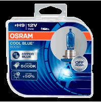 LAMPADE H9 OSRAM COOL BLUE BOOST + 5000K,ESTREMAMENTE BIANCO EFFETTO XENON +50%