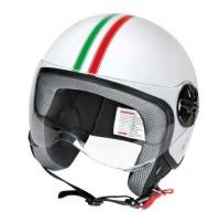 LD-2, casco demi-jet - Bandiera Italiana,visiera trasparente misura L,lampa