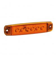Luci lateral ingombro a 6 Led, montaggio in superficie, 12/24V - Arancio 20 kit