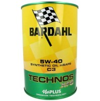 OLIO MOTORE BARDAHL TECHNOS C60, 5W-40 SYNTHETIC OIL M SAPS, 1 LITRO