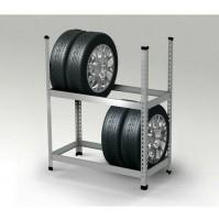 Scaffale porta-pneumatici o porta-ruote complete