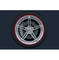 Set 4 anelli in ABS PRT cerchi e ripara graffi look sportivo, misura 18
