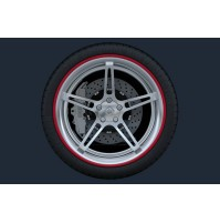 Set 4 anelli in ABS di protezione cerchi in lega,look sportivo, misura 17